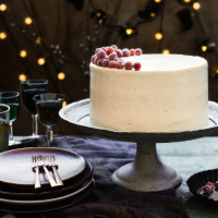 Edd Kimber's cranberry and white chocolate Chirstmas cake