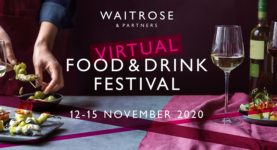 Waitrose Virtual Food & Drink Festival, 12-15 November 2020