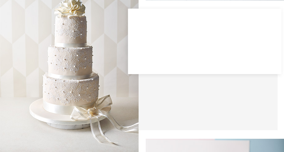 Ivory and white wedding cakes