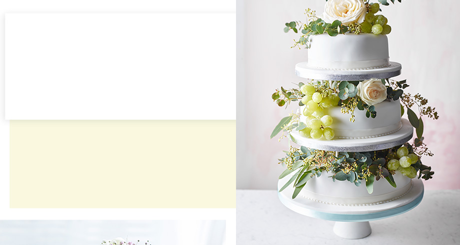 Undecorated wedding cakes