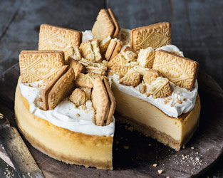 Martha Collison's custard cream cheesecake