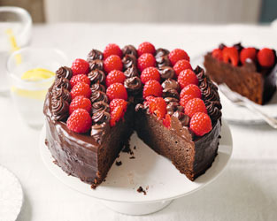 Martha's chocolate & raspberry torte
