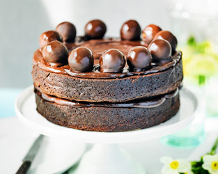 Martha Collison's chocolate truffle simnel cake