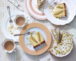 Lemon & pistachio Easter cake