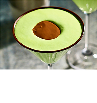 Mint chocolate 'avocado' cocktail