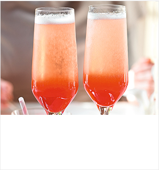 Heston's plum fizz
