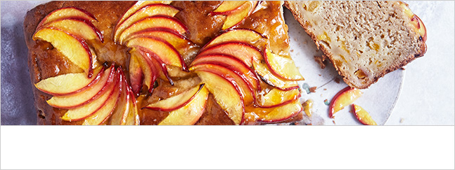 Nectarine, apricot and earl grey tea loaf