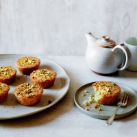 Pistachio, coconut and lime friands