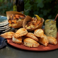 Vegetable and taleggio pasties