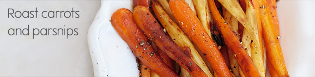 Roast carrots and parsnips