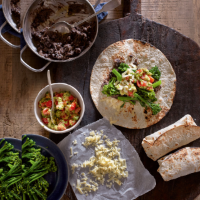 Black bean & broccoli burritos