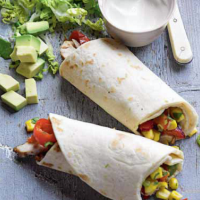 Chicken Fajitas with Sweetcorn, Chilli and Coriander Salsa