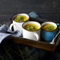 Curried celeriac & parsnip soup