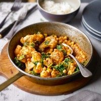 Cauliflower and chick pea tikka masala