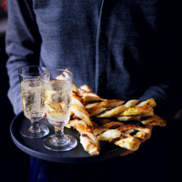 Cheese & chive pastry straws