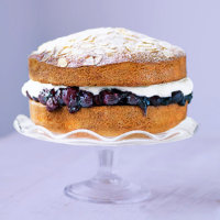 Cherry and almond victoria sandwich