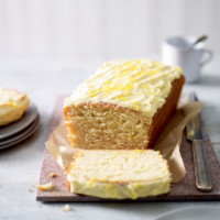 Vegan frosted lemon cake