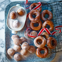 Gingerbread-spiced doughnuts with lemon glaze