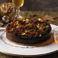 Heston's Spiced popping candy chocolate tart