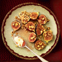 Honey-roast figs and hazelnuts