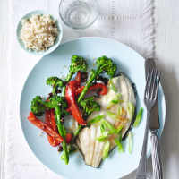 LOVE life baked plaice with black bean vegetables