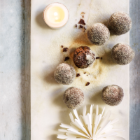 Mulled wine chocolate truffles