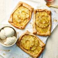 Maple-glazed pineapple tarts