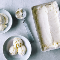 No-churn, lime and ginger ice cream