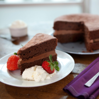 Paul Hollywood's chocolate Victoria sandwich cake