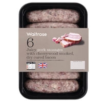Waitrose sausages