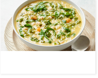 Italian style spring soup