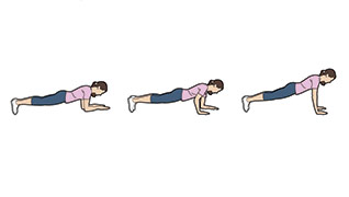 Up-down plank