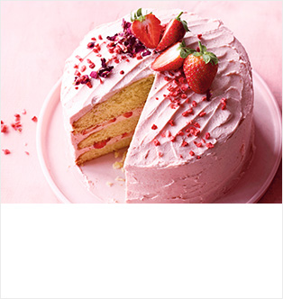 Strawberry & rose layer cake