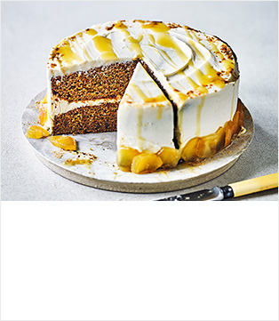 Whole orange & ginger cake with mascarpone frosting