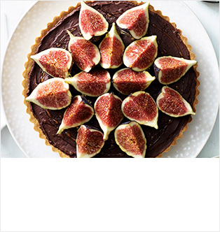 Dark chocolate orange tart with sweet figs