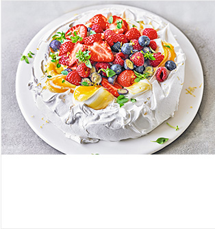 Mixed berry & lemon pavlova