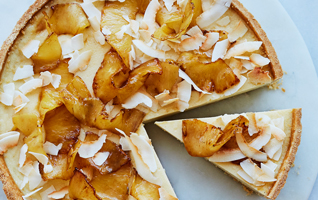 Martha Collison's coconut custard tart with caramelised pineapple
