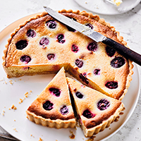 Cherry, blackberry & lemon tart