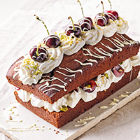 Black Forest loaf cake