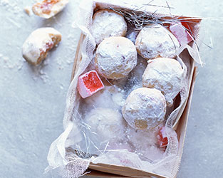 Turkish delight and rosewater cookies