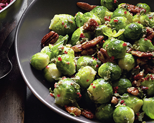 Lemon & sage-buttered Brussels