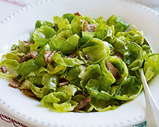 Heston's Brussel sprouts & bacon