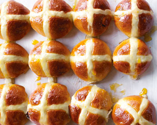 Cinnamon and raising hot cross buns