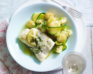 Garnish & Go cod with herb butter
