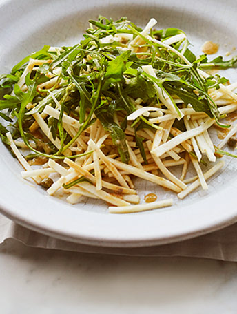 Celeriac, anchovy and rocket salad