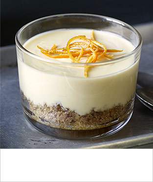 Orange and rosemary posset puds