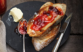 Plum & apple jam