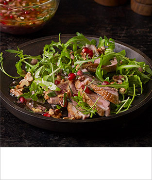 Fresh pomegranate, shallot & tarragon dressing