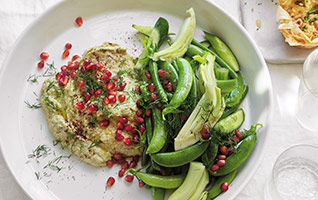Courgette baba ganoush