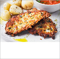 Crispy chicken with fresh tomato sauce